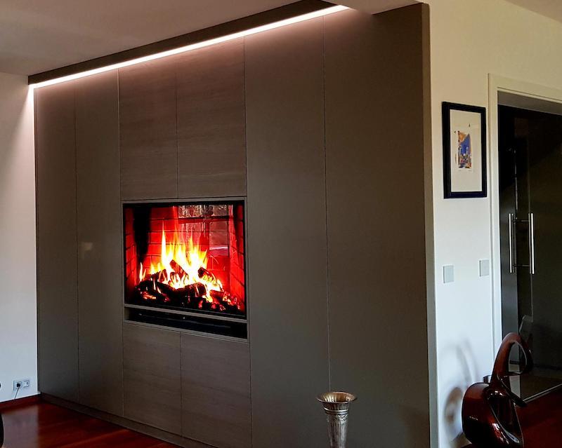TV Wand nach Maß von der Tischlerei Spanier Bild 3