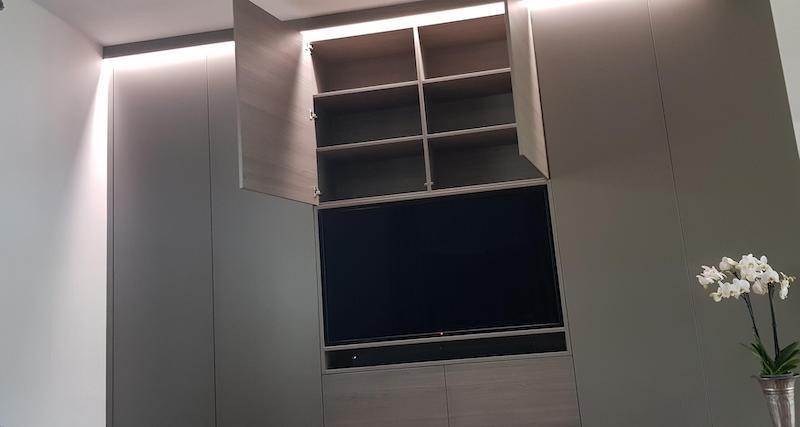 TV Wand nach Maß von der Tischlerei Spanier Bild 2